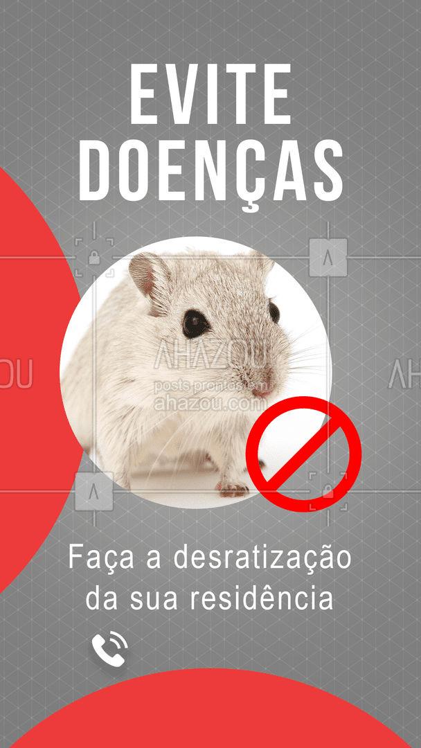 Os ratos são pequenos transmissores de grandes doenças. Não ponha em risco a sua saúde nem a da sua família. Entre em contato e agende uma visita!  #AhazouServiços #dedetização #roedores #ratos #desratização