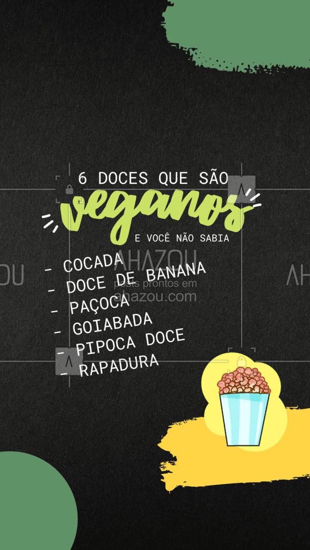 E aí, você sabia que os 6 são veganos? ? #docesveganos #veganos #ahazoutaste #AhazouSaude  #alimentacaosaudavel #bemestar #viverbem