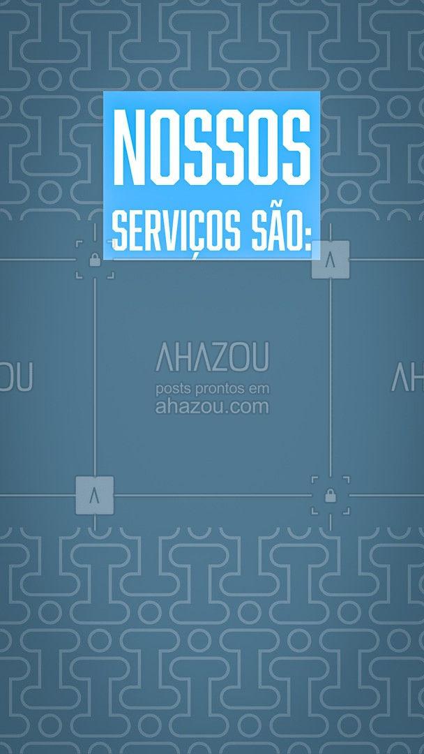 Confira todos os serviços que fazemos aqui na assistência. Traga seu aparelho para fazer uma manutenção. #serviços #AhazouTec   #AssistenciaTecnica #computadores #eletrônicos #celulares #tablets