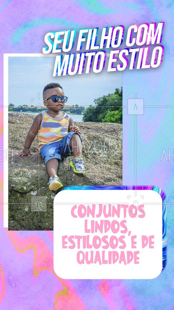 Seu filho ficará ainda mais lindo com os nossos conjuntos. Faça o seu pedido e garanta o seu! #AhazouFashion #talmaetalfilha  #instakids  #moda  #kidsfashion  #modainfantil  #fashion