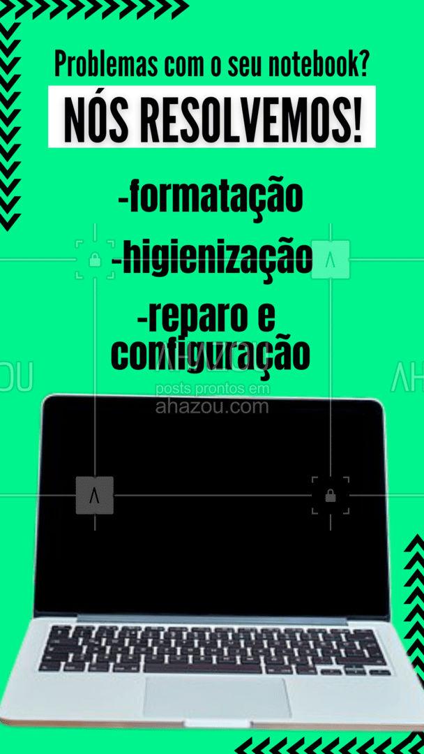 Seu notebook as vezes só precisa de uma geral pra ficar novinho! ??    #AhazouTec  #notebook #manutencao #conserto #formatacao #higienizacao #reparo #configuracao  #tecnologia #eletrônicos #assistencia #AssistenciaTecnica