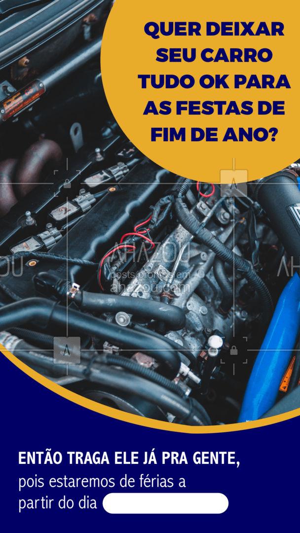 É hora de deixar seu carro 100% ok para as festas de fim de ano não é mesmo? Então traga ele já pra gente antes de nossas férias. ??️ #Carros #Funcionamento #AhazouAuto #Ferias