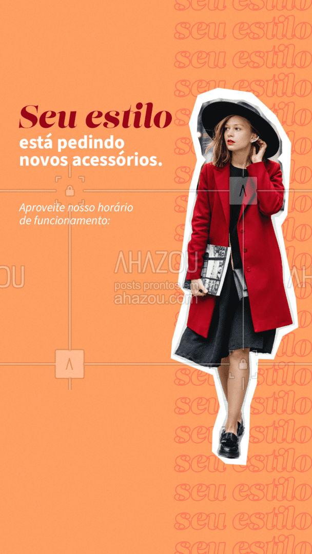 Aproveite nosso horário de funcionamento para adquirir novos acessórios para os seus looks. ?✨ #AhazouFashion  #tendencia #semijoias #acessorios #estilo #brincos