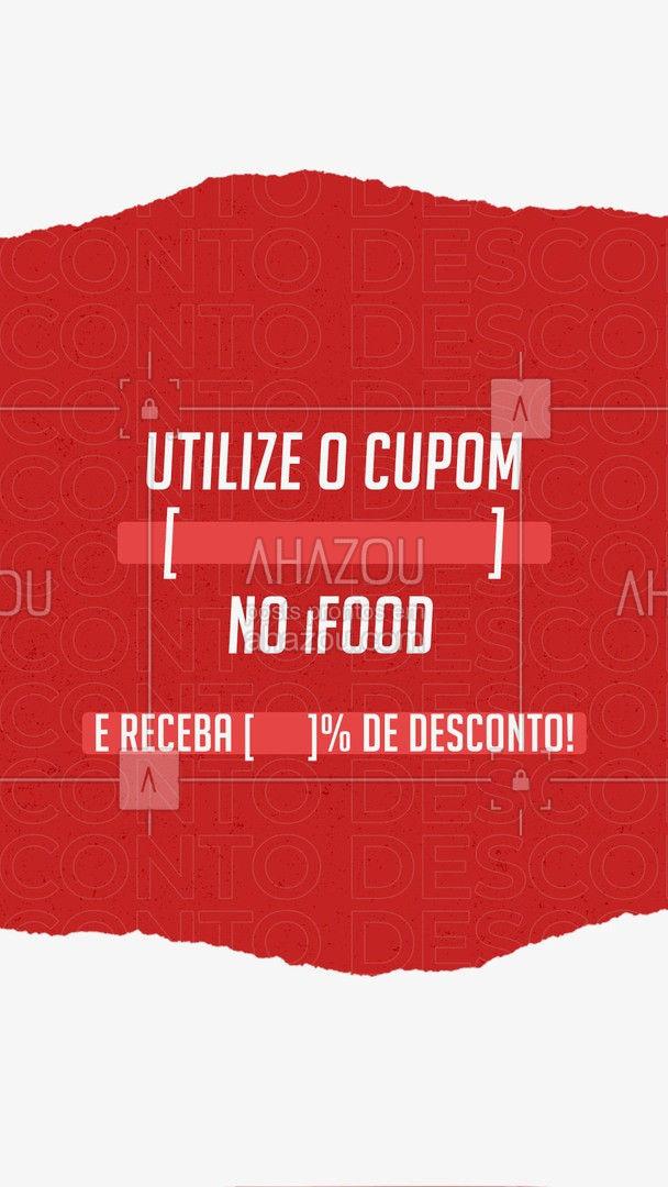 Quer um desconto, sem ter que se esforçar muito? Então achou o lugar certo, utilize nosso cupom no aplicativo, e receba um desconto na hora! Aproveite, que é por tempo limitado! #ahazou #food