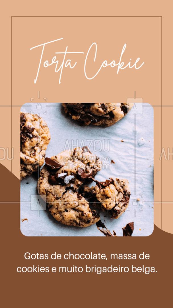 Você sabia que se você colocar a Torta Cookie no micro-ondas de 10 a 15 segundos, você tem uma sobremesa ainda mais cremosa? Venha experimentar nossa torta! #ahazoutaste #confeitaria  #bolo  #doces  #confeitariaartesanal  #bolosdecorados