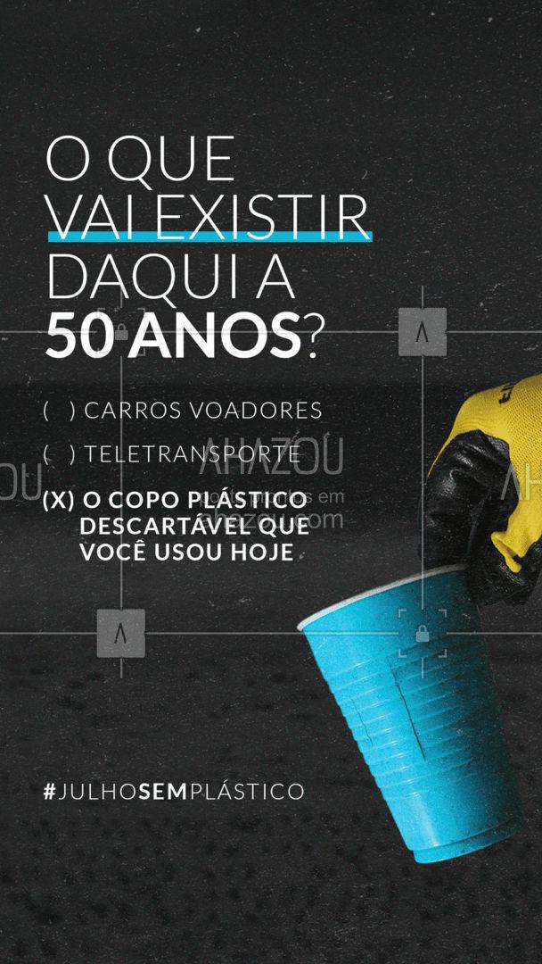 São fatos como este que nos fazem refletir sobre o nosso consumo desnecessário de plástico, que acaba comprometendo o nosso planeta por tempo demais. Por isso, nesse mês, te convidamos para tentar reduzir o seu consumo de plástico em prol do meio ambiente. Nós estamos nessa causa, e você? ???   #julhosemplastico #meioambiente #ahazou #plastico #sustetabilidade