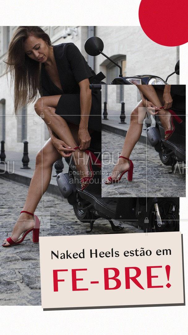 Vamos reviver os anos 2000. E tratando de calçados, um modelinho que está em alta são as Naked heels, mas com foco nas sandálias com a ponta quadrada. O modelo bem minimalista, com poucas tiras era a febre dos anos '00. #lookdodia #fashionista #fashion #moda #tendencia #estilo #sapatos #moda2021 #AhazouFashion