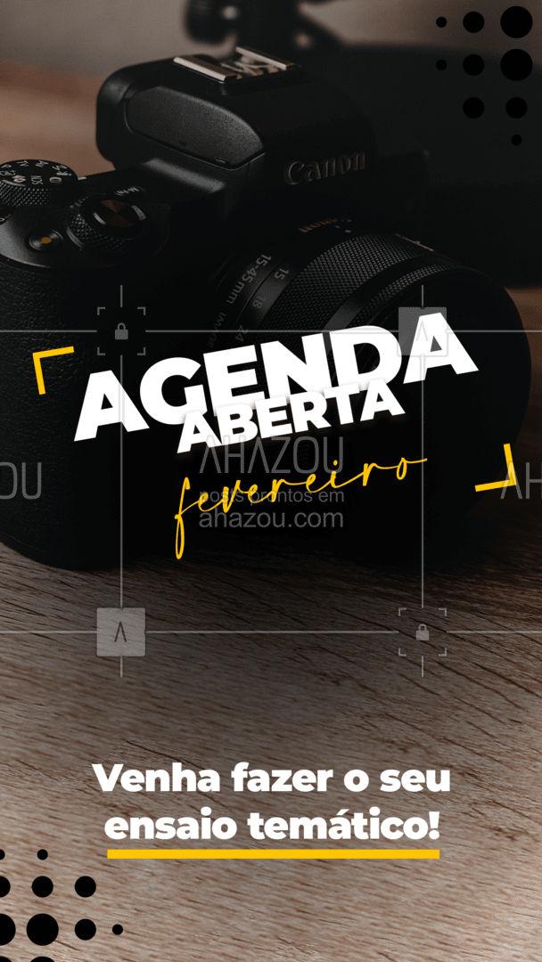 Aproveite que a agenda de fevereiro já está aberta e marque o seu ensaio temático! #photography #photooftheday #fotografia #photographer #photo #foto #fotografiaprofissional #picoftheday #agendaaberta #fevereiro #ahazoufotografia