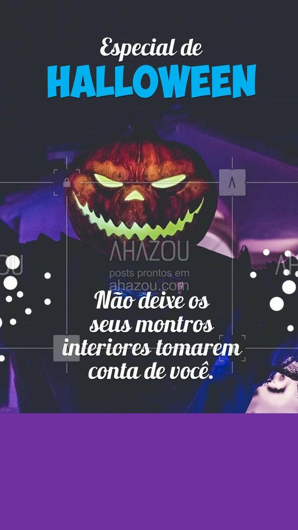 Convidamos você para cuidar da sua saúde e do seu bem-estar neste especial de halloween, não deixe que seus monstros interiores te destrua (colocar aqui informações sobre o especial de halloween - tratamentos, entre outros). #EspecialDeHalloween #AhazouSaude #MêsDoHalloween #saudemental #viverbem #bemestar #AhazouSaude