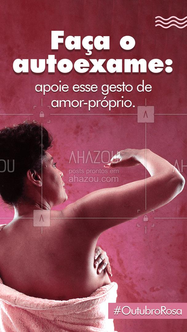 A campanha do Outubro Rosa é sobre a importância da prevenção e do diagnóstico precoce do câncer de mama e mais recentemente sobre o câncer de colo do útero. Divulgue essa ideia. Previna-se! #outubrorosa  #ahazou  #motivacionais