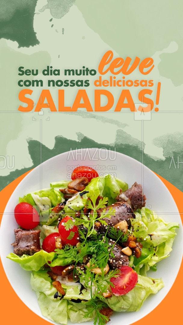Conheça e saboreie nosso menu de saladas! #salada #comidadeverdade #ahazoutaste #fit #saudavel
