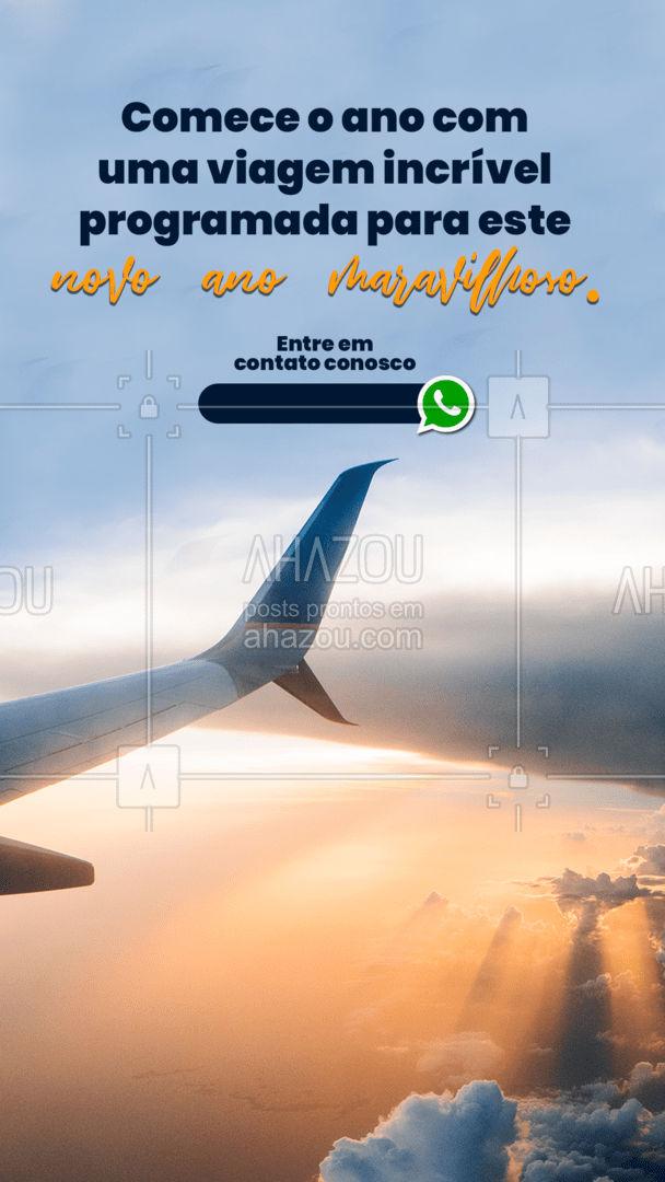 Hora de programar a viagem dos seus sonhos e por isso comece o ano com ela já marcada! Entre em contato conosco pelo telefone acima e aproveite ofertas especiais para você. ✈️??#Viagem #Turismo #AhazouTravel #ComeceOAnoBem
