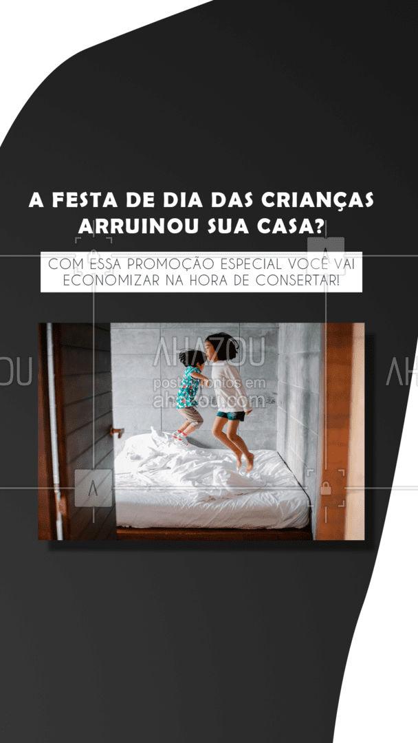 Consertamos, limpamos e organizamos pelo melhor preço! Agende um horário para visitarmos sua casa 😊 #AhazouServiços #diadascrianças #conserto #casa  #servicosparacasa #promoçao #servicos