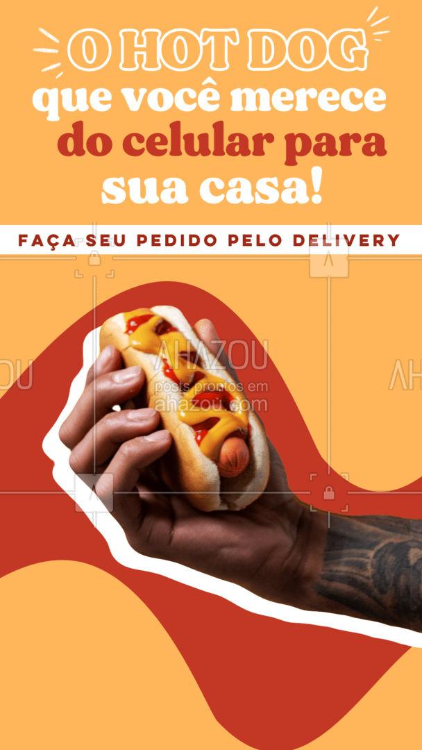 Hoje é dia de hot dog! O melhor cachorro quente da região à um clique de distância! Peça já o seu! #ahazoutaste #hotdog  #hotdoglovers  #hotdoggourmet  #cachorroquente  #food #pedido #entrega #delivery