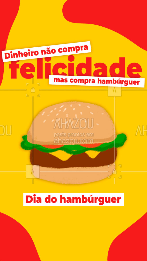 Hoje é o dia de celebrarmos a melhor comida do mundo. Feliz da do hambúrguer! ?? #hamburguer #burguer #diadohamburguer #ahazoutaste  #gastronomia