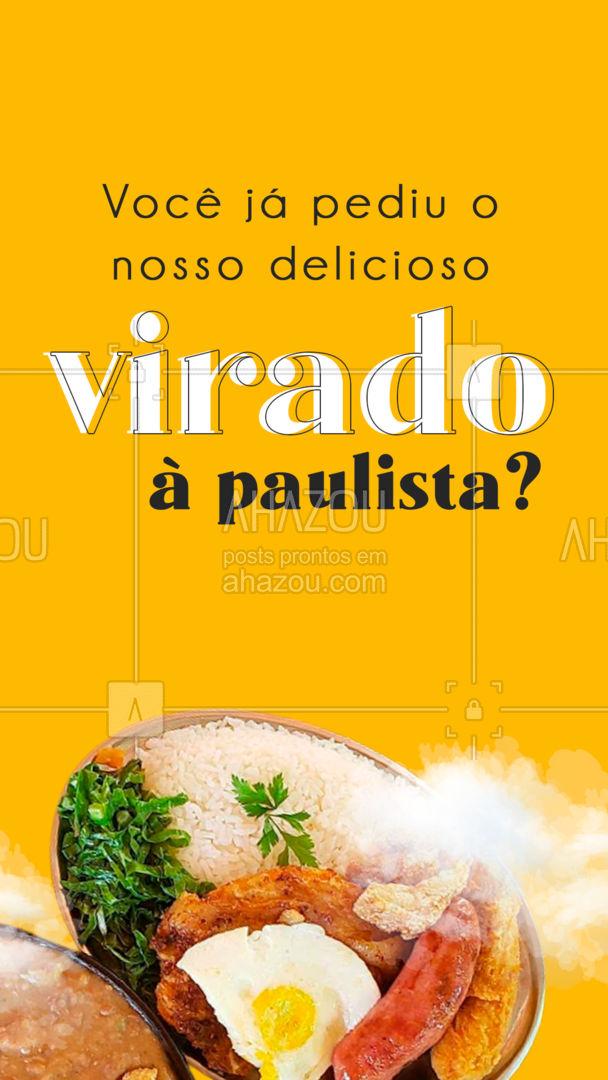 Se ainda não, não sabe o que está perdendo. ? #ahazoutaste #virado #viradoapaulista #marmita #comida  #marmitex #comidacaseira #comidadeverdade