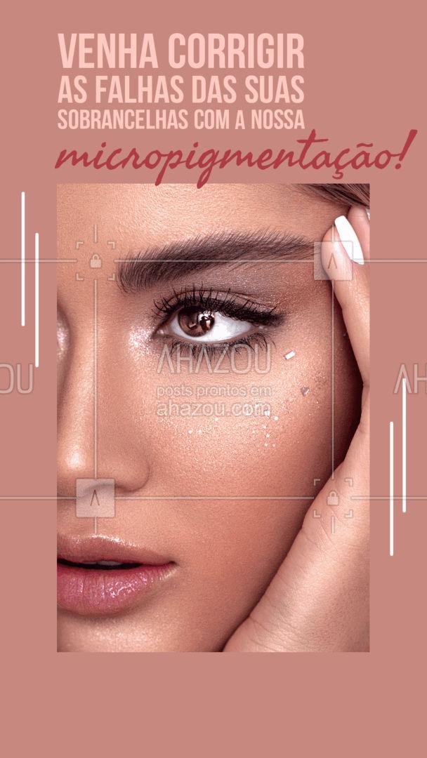 Um novo olhar, realçado e marcado! Venha conquistar isso com nossa micropigmentação nas sobrancelhas! Perfeita para você que quer praticidade e beleza junto. Agende seu horário. #AhazouBeauty  #sobrancelha #designdesobrancelha #beleza #designerdesobrancelha #micro  #micropigmentacao