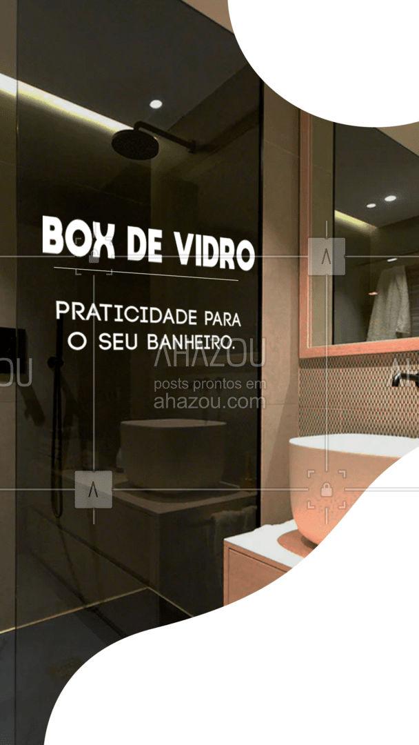 Além de deixar o seu banheiro mais bonito, o vidro é mais prático na hora da higienização do banheiro! Entre em contato e solicite um orçamento! #AhazouVidraçaria #vidracaria  #vidrotemperado  #vidraçaria #box #sobmedida #vidro
