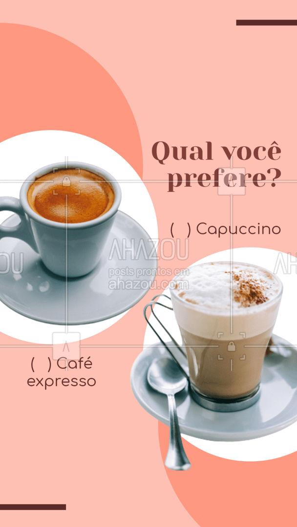 E aí, você é do time mais tradicional ou adora um capuccino com todas as forças? Conta aqui nos comentários! #ahazoutaste #cafeteria  #café  #coffee  #barista  #coffeelife