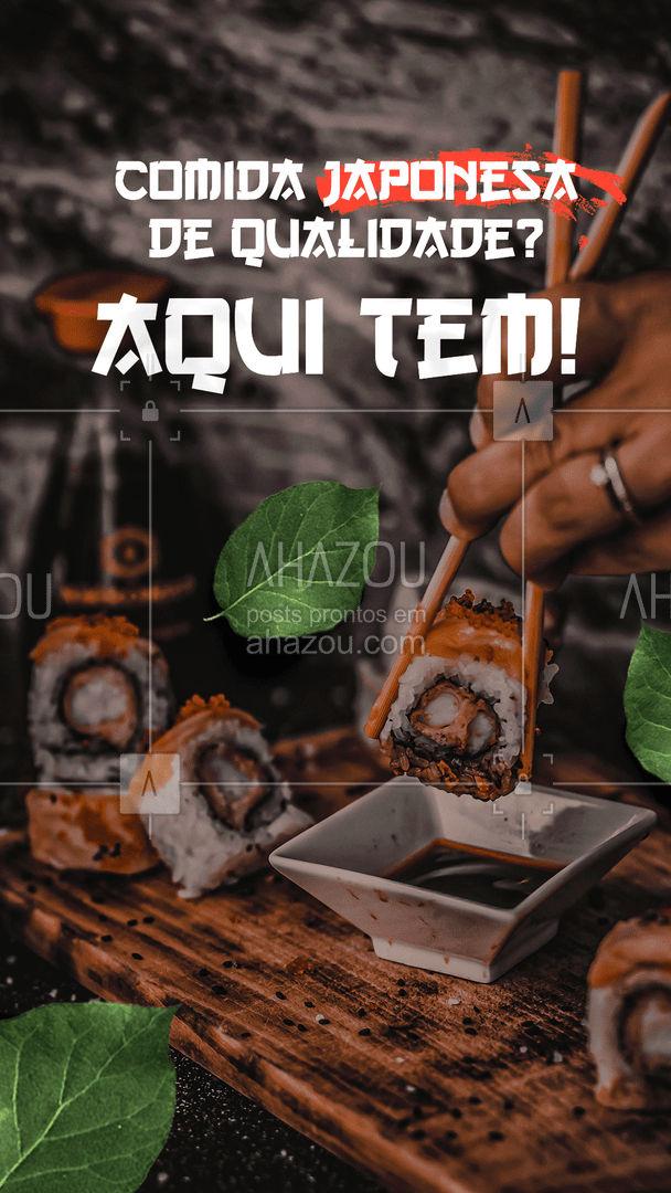 É hora de ser feliz, então vem pra cá comer a melhor comida japonesa que você já viu! #ahazoutaste #japa  #sushidelivery  #sushitime  #japanesefood  #comidajaponesa  #sushilovers #experimente #qualidade