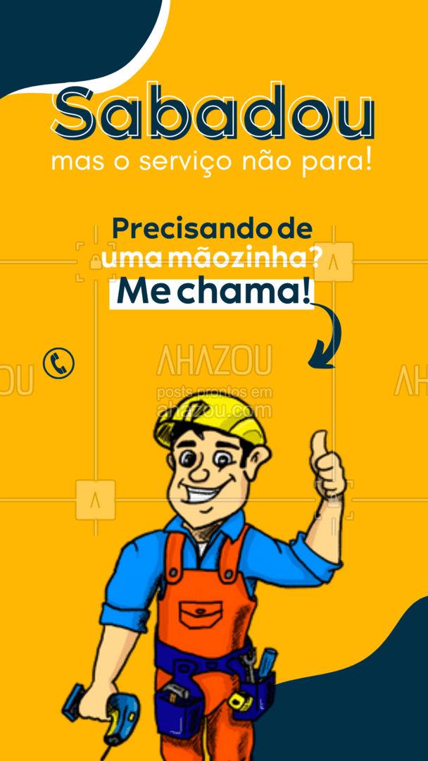 Todo dia é dia de deixar sua casa nos trinques! ? #serviços #serviçospracasa #AhazouServiços #reparos #conserto