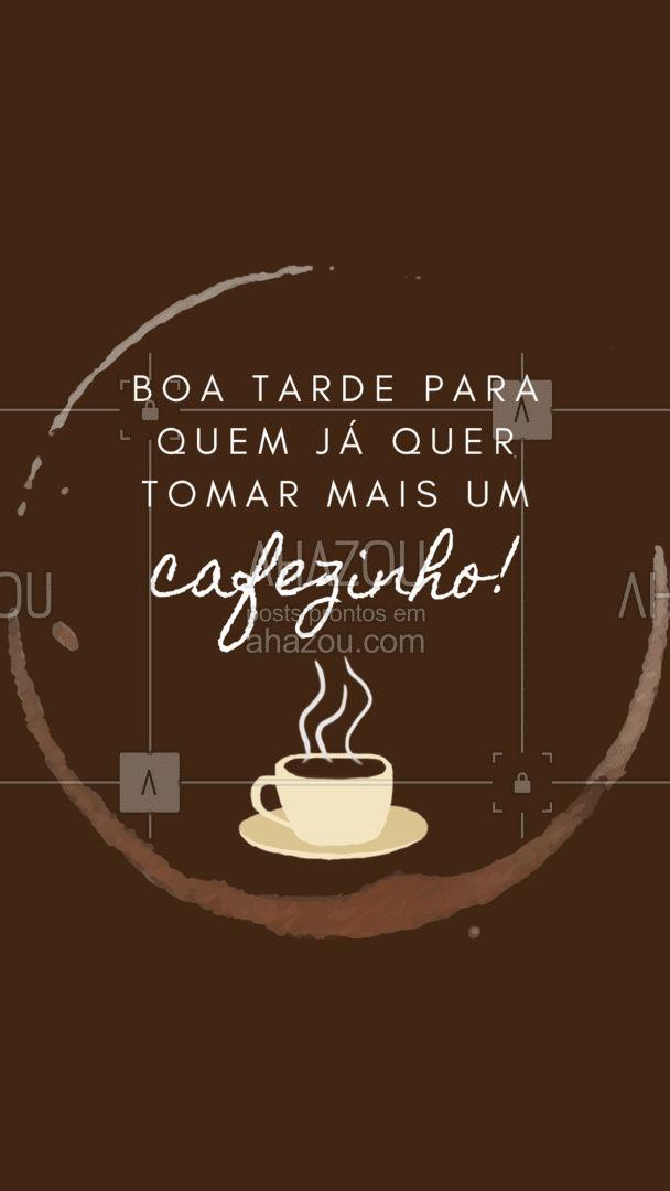 Nada como tomar mais um café à tarde para continuar bem até o fim do dia, né? ☕❤️ #café #boatarde #ahazoutaste #coffee #padaria #cafeteria #cafedatarde