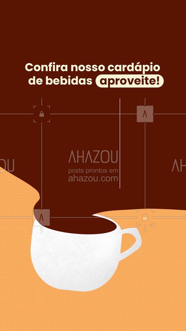 Nosso cardápio de bebidas é extenso e saboroso, venha aproveitar! 🍷 #ahazoutaste #padaria #padariaartesanal #cafedamanha #panificadora #bebidas #bebidasartesanais
