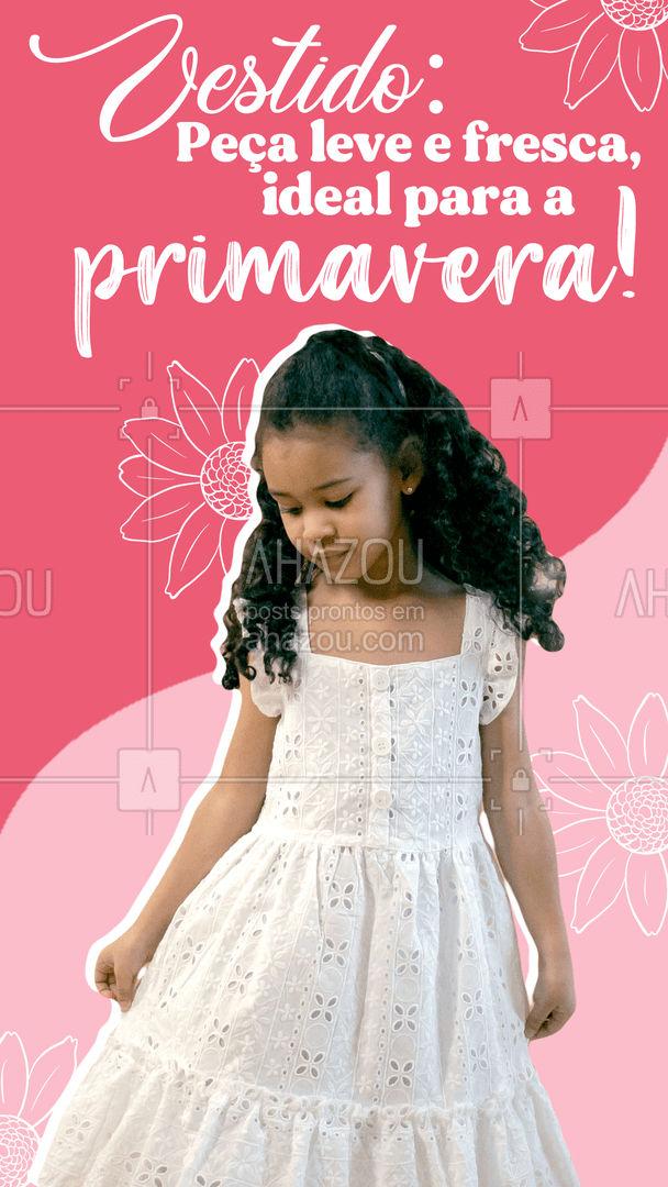 O vestido é uma excelente opção para quem quer praticidade! Além de de serem leves e frescos, combinam com qualquer tipo de calçado! Assim, você veste sua pequena com estilo e de forma confortável! Fica a dica! #AhazouFashion #talmaetalfilha  #instakids  #moda  #kidsfashion  #modainfantil  #fashion #dicas #look #primavera