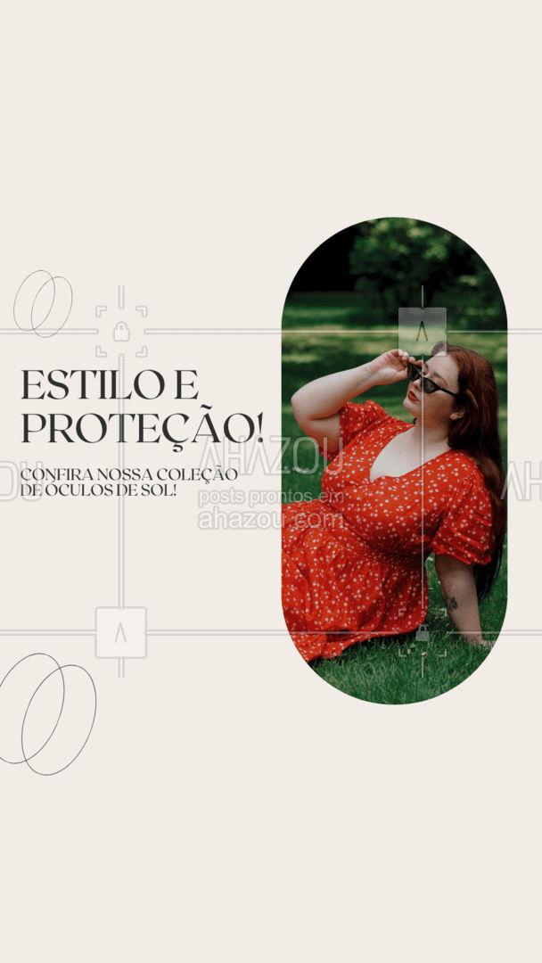 Fique por dentro das tendências com muito estilo e com seus olhos bem protegidos! Venha conhecer nossa coleção e garantas seus novos óculos de sol! #oculosdesol #oticas #AhazouÓticas #otica #oculos ##modelos #estilo