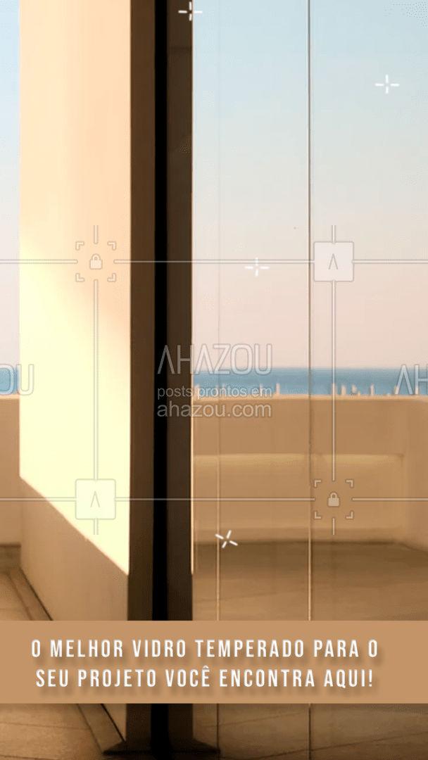 Seu projeto necessita de vidro temperado? Aqui você encontra! Maior qualidade e menor preço, entre em contato e solicite o seu orçamento! #vidrotemperado #vidracaria #AhazouVidraçaria #vidraçaria #serviços