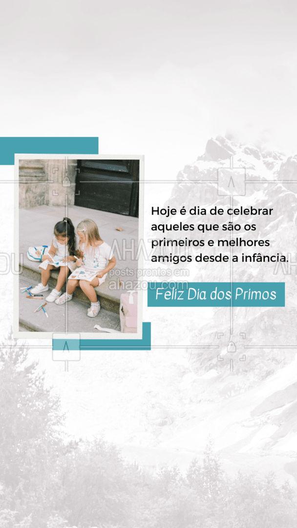Não importa quanto tempo passe, os laços que criamos sempre será forte. Feliz Dia do Primo.#diadoprimo #frases #ahazou #motivacional #frasesmotivacionais #primos