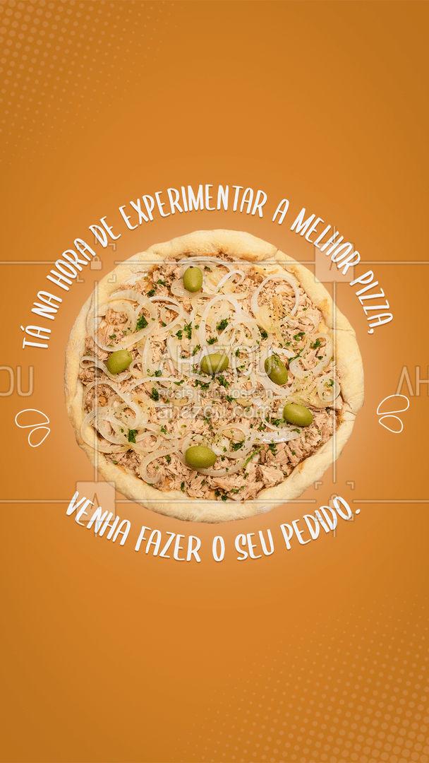Quando bate aquela fome a melhor opção sempre será uma boa fatia (ou uma inteira) de pizza. Então se ainda não experimentou as nossas pizzas, venha já fazer o pedido da melhor da região. #pizza #convite #ahazoutaste #pizzaria #pizzalovers #taste