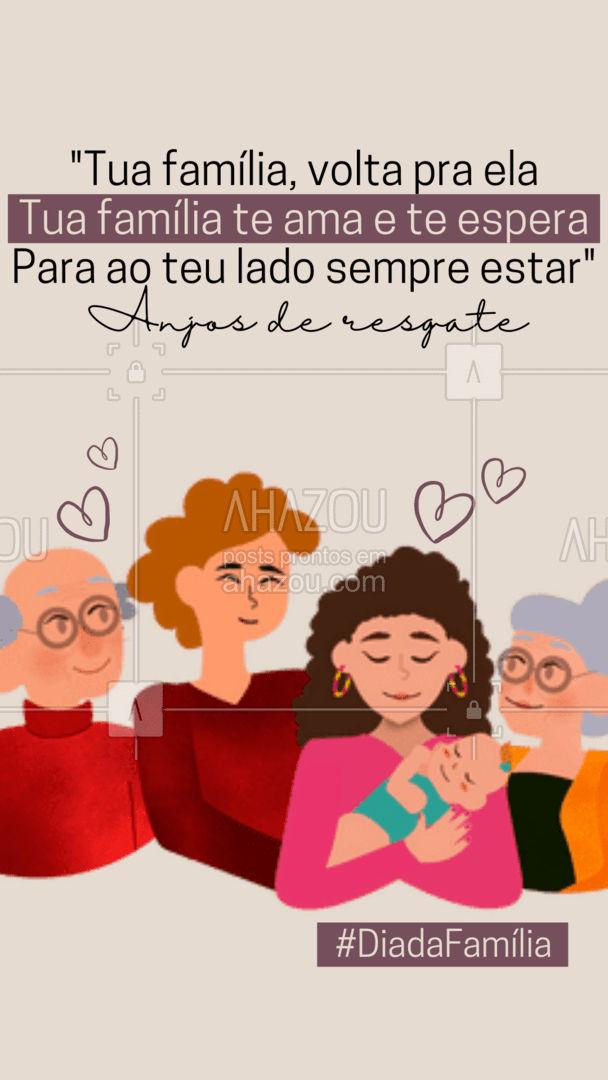 Aproveite o dia da família para reconciliar desavenças. A família é o bem mais precioso que Deus nos dá, por isso, devemos sempre estar em comunhão com ela! ???  #DiadaFamilia #Familia #AhazouFé #anjosderesgate  #igreja #palavradeDeus