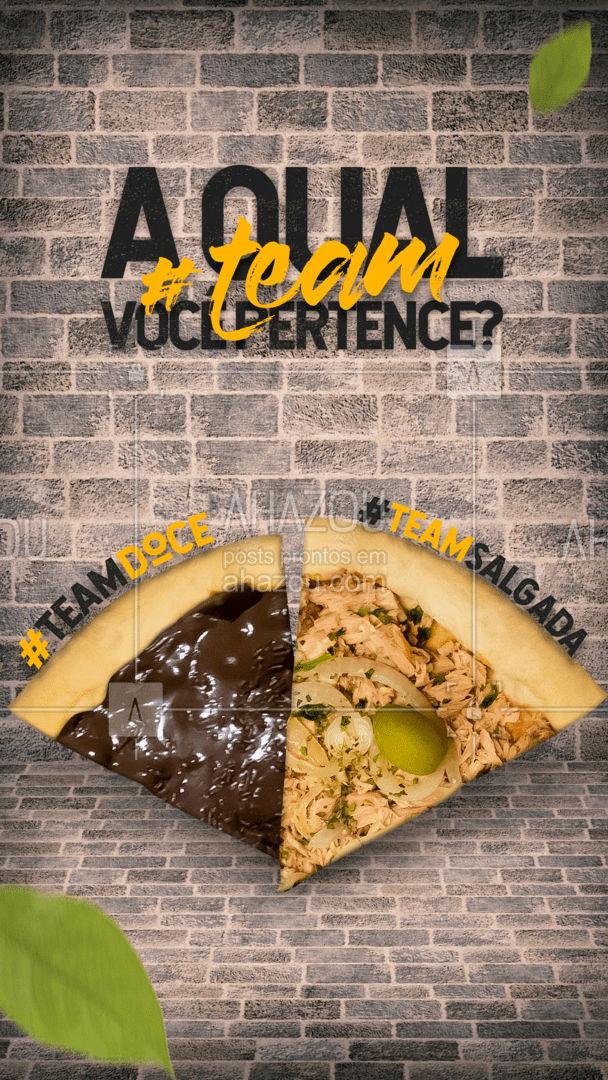 Responda nos comentários, é pro meu TCC...? A qual #TEAM você pertence? ? #ahazoutaste  #pizzaria #pizza #pizzalovers