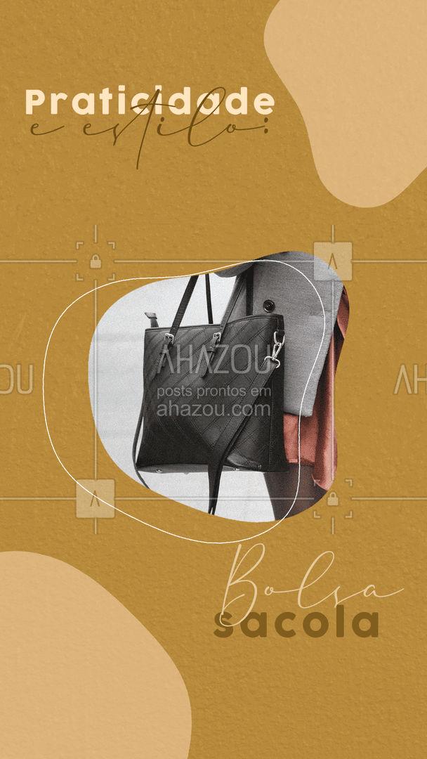 A bolsa sacola é ótima para o dia a dia, por ser bem grande e muito prática. Ela combina com produções mais casuais, como um short de linho com uma regata, jeans e calças em tecidos leves. #AhazouFashion  #tendencia #estilo #fashion #dica #bolsasacola