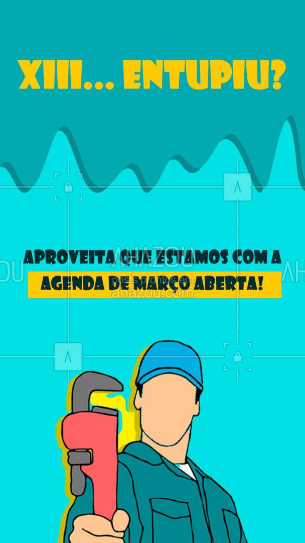 Afinal, ninguém merece ficar com nada entupido! ? #encanador #serviçoshidraulicos #AhazouServiços #agendaaberta #agendademarço #AhazouServiços