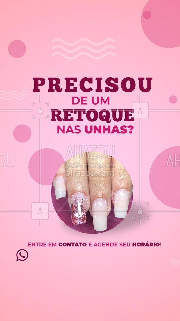 Está com a unha muito judiada? Precisando de um retoque por um preço super acessível?  Venha fazer conosco! ?  #AhazouBeauty #manicure #pedicure #unhas #retoques #convite #relaxamento #nails #unhasDoDia  #unhasdehoje #unhas #beleza