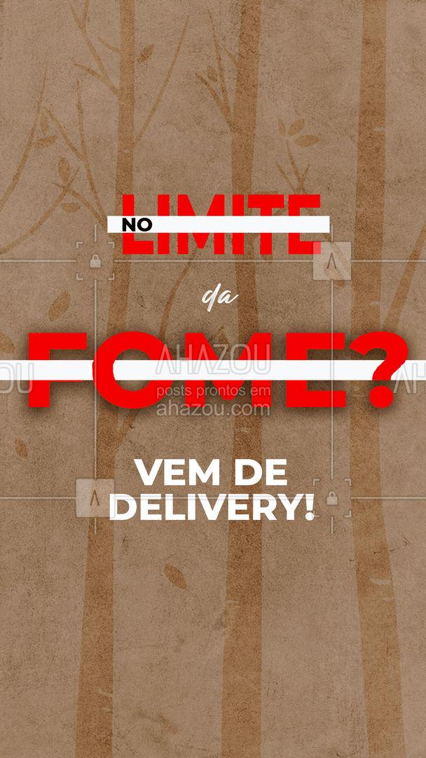 Chegou No Limite da fome por aí? Os brothers lutam por sobrevivência mas você não precisa lutar com a fome! Pede já seu delivery ☎️ #delivery #nolimite #ahazoutaste  #gastronomia #foodie  #foodlover