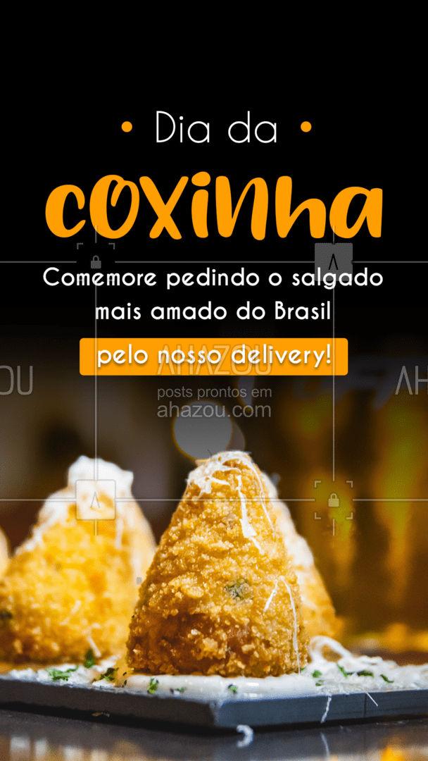 Peça já suas coxinhas pelo nosso delivery! Essa data especial não pode passar em branco! Aguardamos seu contato!  #ahazoutaste #diadacoxinha #coxinha #salgados #eat