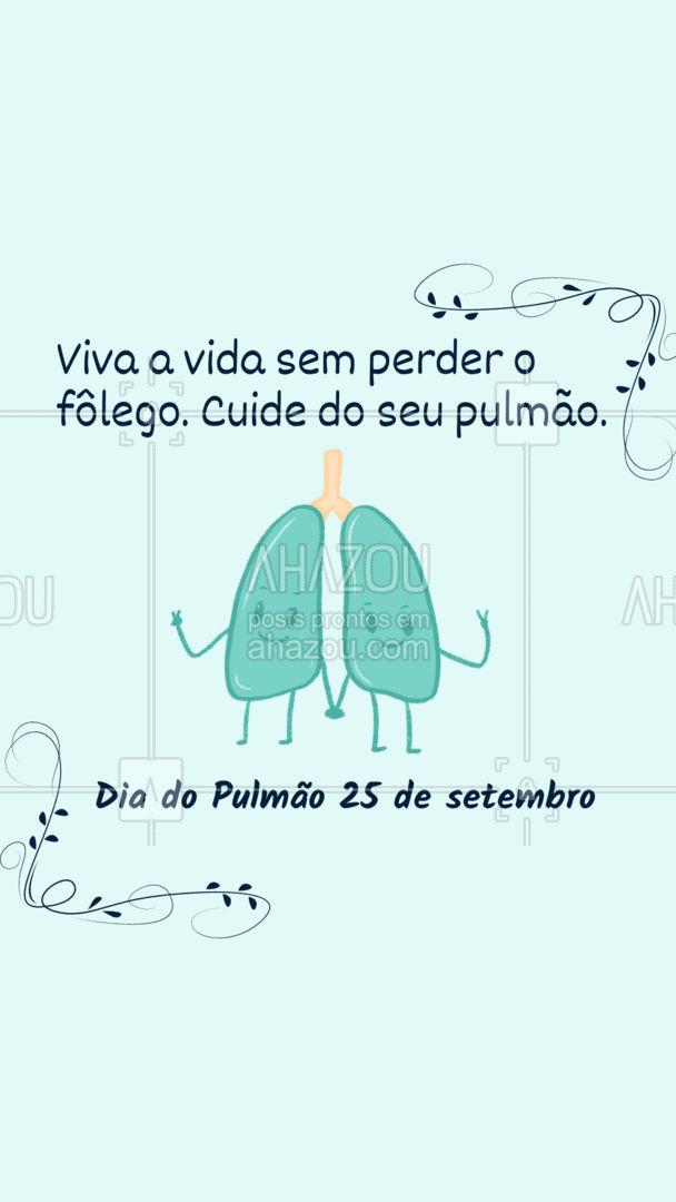 Cuidar do pulmão é sempre a melhor opção. Feliz Dia do Pulmão!🎉💙 #diadopulmão #pulmão #ar #AhazouSaude #saude  #cuidese  #bemestar  #qualidadedevida  #viverbem