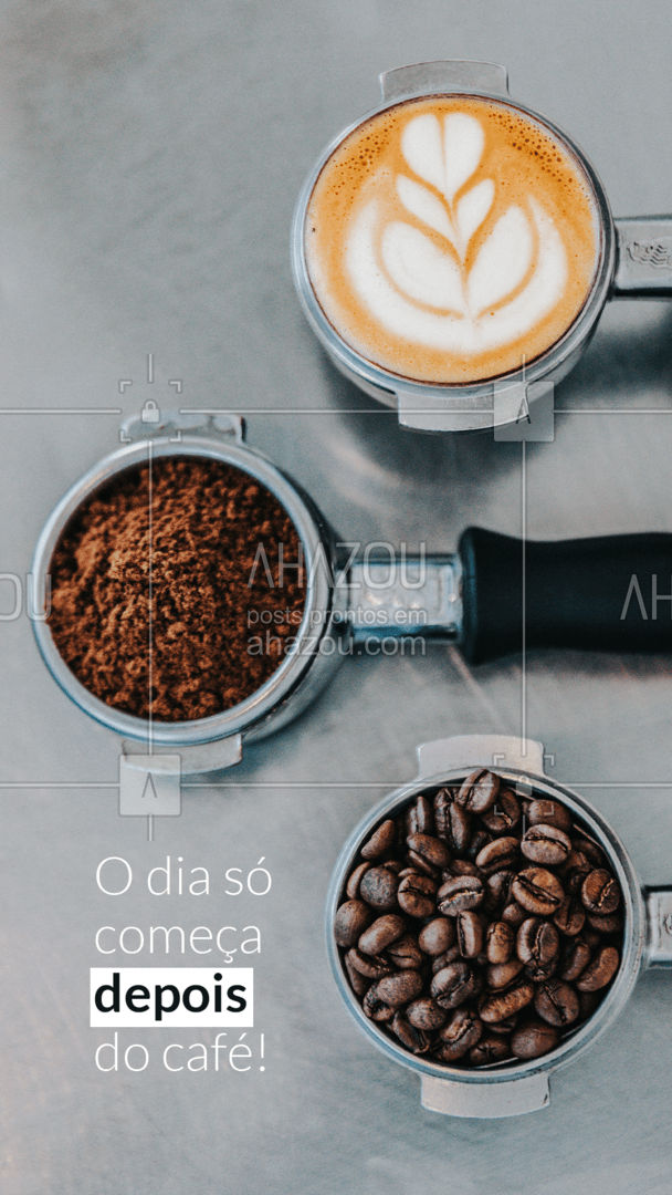 Porque sem café, o corpo só se move se for para ir atrás do café! ? Bom dia! ?☕ #café #coffee #ahazoutaste #cafedamanha #bakery #ahazoutaste