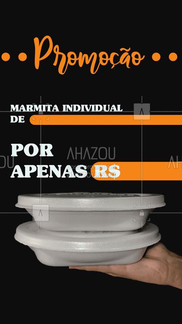 Alô marmiteiros, já aproveitaram nossa promoção para garantir o rango do dia? 🤤 #promoção #ahazoutaste#marmitas #food