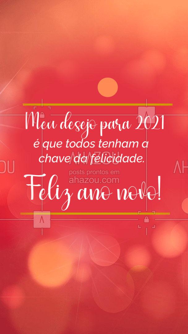 Que nesse novo ano todos tenham a chave da felicidade em suas mãos. #chave #chaveiro #serviços #AhazouServiços #chaves #motivacional #postdefrase #anonovo #felizanonovo
