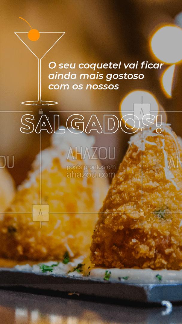 Sequinhos, crocantes e muito saborosos! Nossos salgadinhos vão fazer sucesso no seu coquetel! Confira o cardápio e faça o seu pedido! #eventos #foodie #ahazoutaste #buffet #opçoes #cardapio #canapés #coquetel
