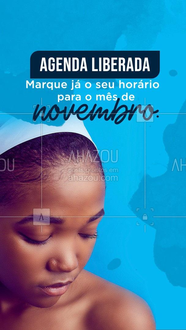 Agenda de novembro liberada! Venha se cuidar aqui! #agenda #agendaaberta #novembro #ahazoubeauty #estetica #beauty #beleza