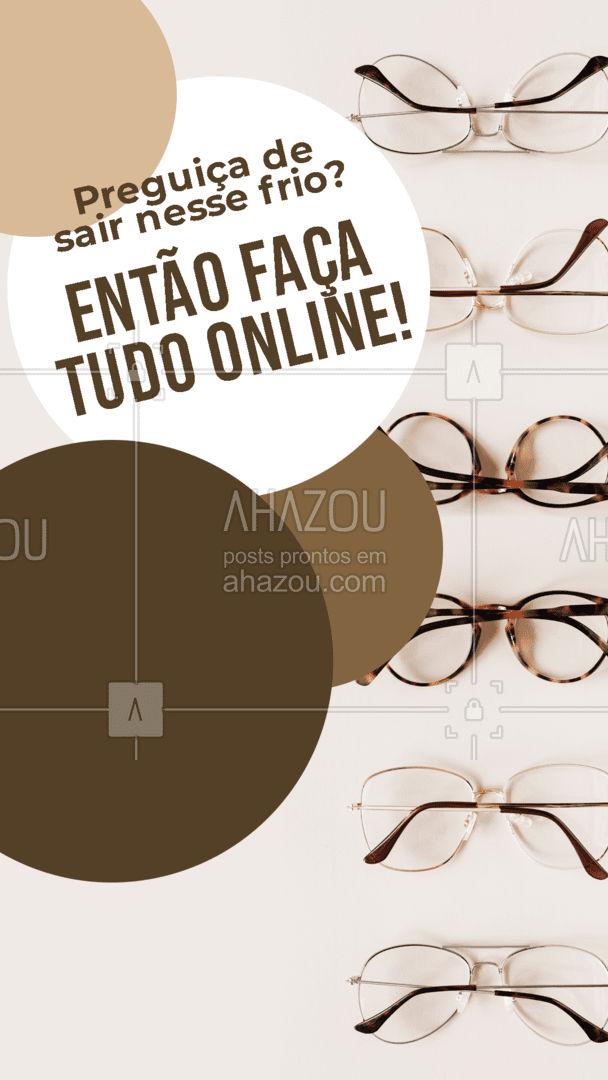 Aqui você escolhe sua armação, envia sua receita e nós entregamos os óculos prontos na sua casa! Tudo muito rápido e simples para você! Entre em contato para saber mais! #oculos #proteçao #inverno #AhazouÓticas #oticas #armaçao #oculosdegrau #oculosescuros