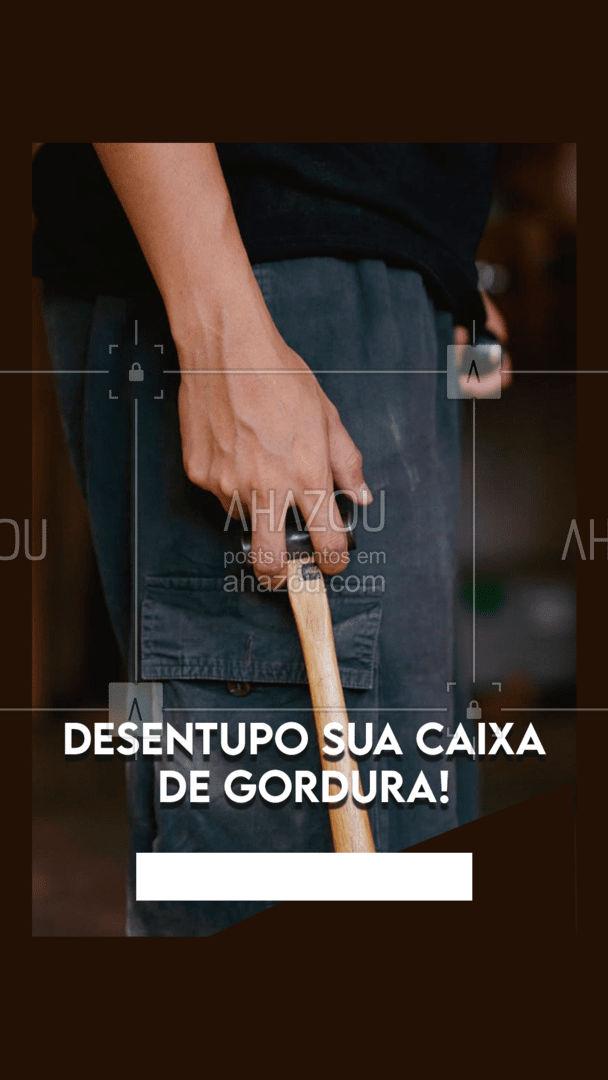 Serviço de qualidade, em mim você pode confiar! #AhazouServiços #caixadegordura #desentupidora #gordura #encanador