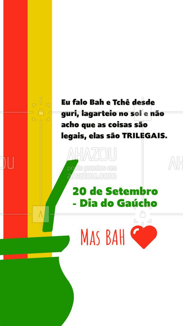 Vamos todos comemorar com aquele chimarrão no capricho. Parabéns Gaúchos, Parabéns Rio Grande do Sul #ahazou #DiaDoGaúcho #20deSetembro #RS #Gaúcho