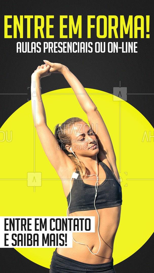 Comece hoje uma vida saudável! Faça aulas presenciais ou on-line Preços especiais para novos alunos. Entre em contato e saiba mais. #AhazouSaude  #boratreinar #fitness #workout