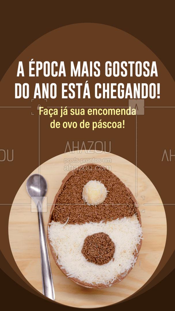 Presenteie quem você mais ama um delicioso ovo de páscoa! Confira o cardápio e peça já o seu! #confeitaria #doces #confeitariaartesanal #foodlovers #ahazoutaste #confeitaria #ovodepascoa #ovorecheado #ovodecolher #ahazoutaste